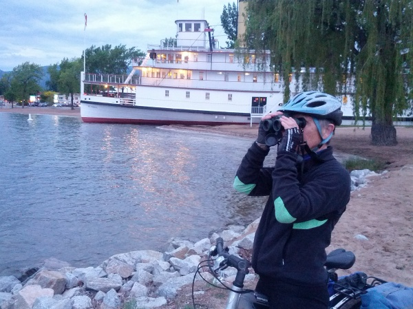 Last look before dark at the SS Sicamous on the Okanagan Lake beach of Penticton.
